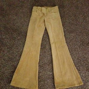 Suede Flare Bottom Pants